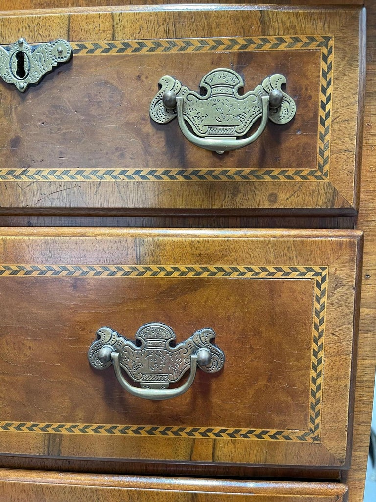 Queen Anne American Cherry Bonnet Top Highboy, 18th Century For Sale 3