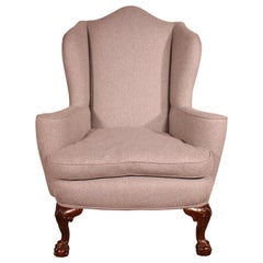Queen Anne Armchair in Mahogany, 19th Century