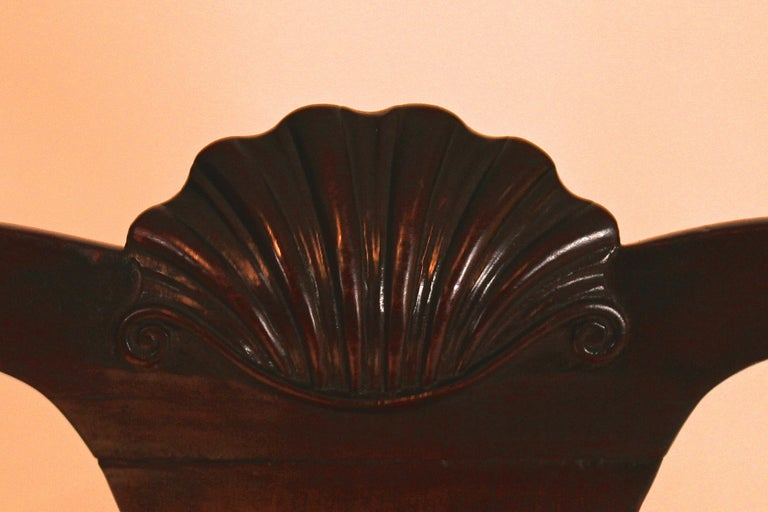 18th Century and Earlier Queen Anne Balloon Seat Side Chair For Sale