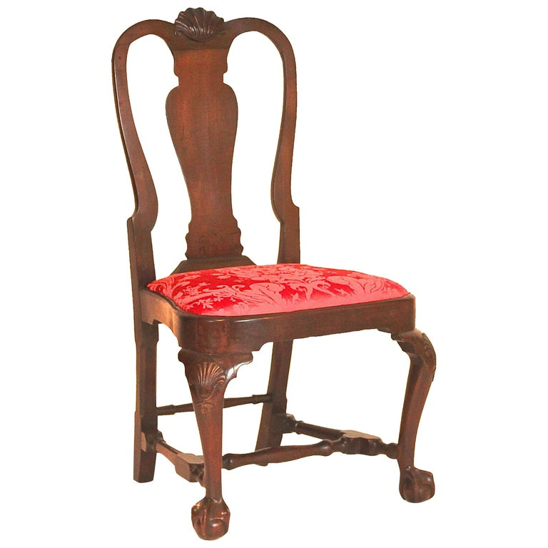Queen Anne Balloon Seat Side Chair For Sale