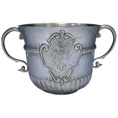 Queen Anne Britannia Silver Porringer, 1706