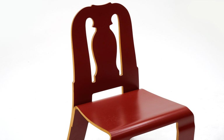 Queen Anne Chair in Red by Robert Venturi for Knoll In Good Condition For Sale In Kansas City, MO