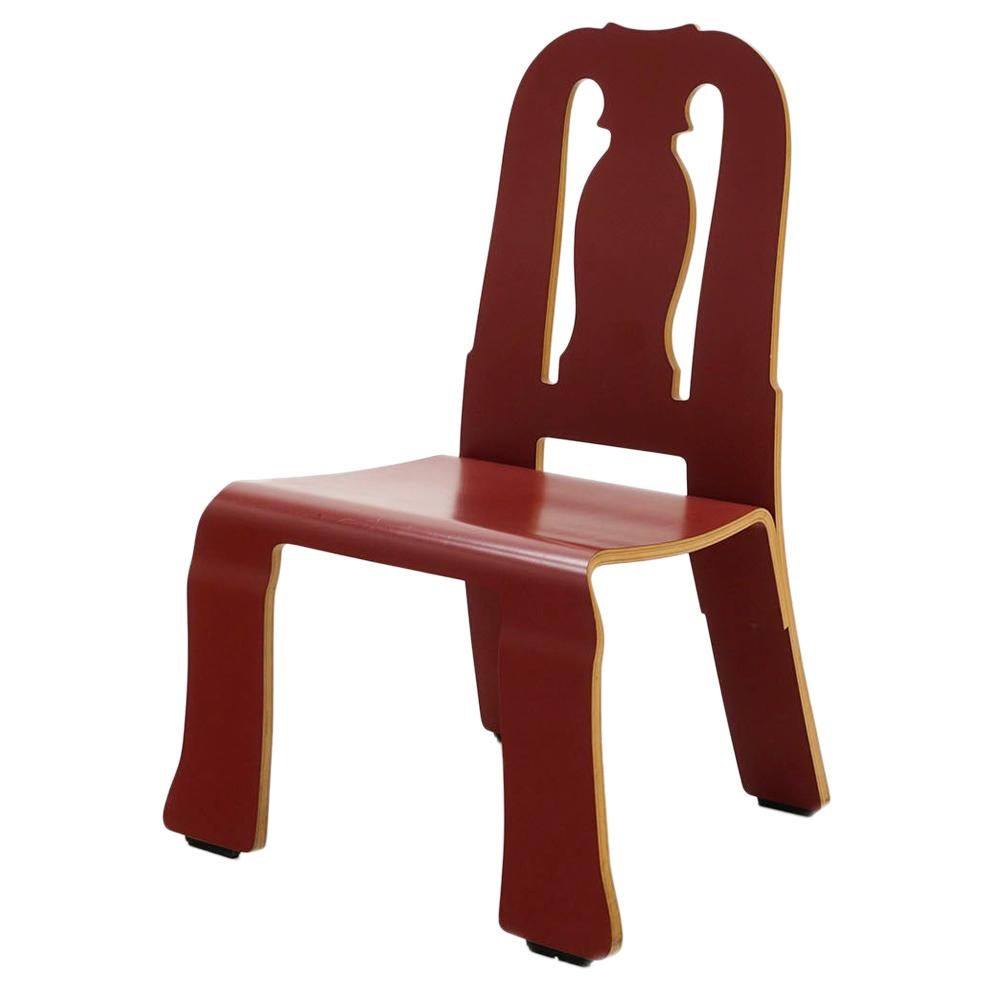 Queen Anne Chair in Red by Robert Venturi for Knoll