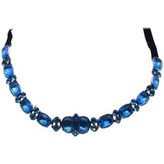 Queen Anne Turquoise Paste Choker