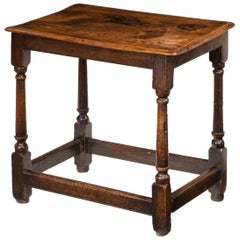 Queen Anne Elm Side Table