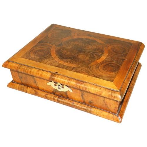 Queen Anne Laburnum Oyster Veneered Glove Box