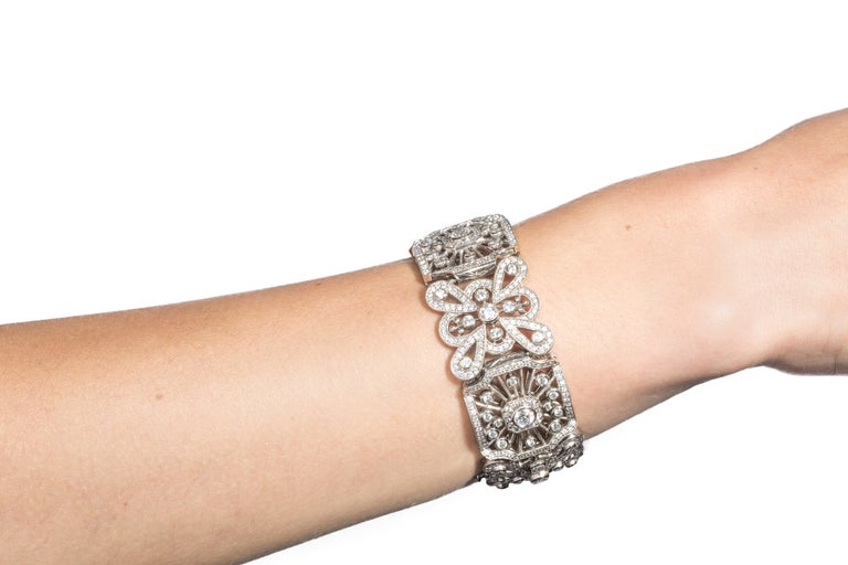 Art Deco Queen Anne Lace Bracelet For Sale