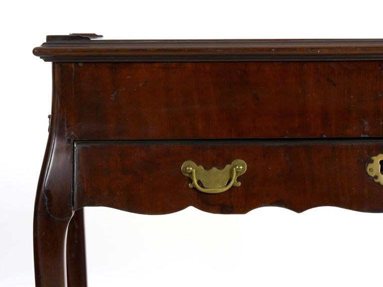 Queen Anne Period Mahogany Backgammon Games Table