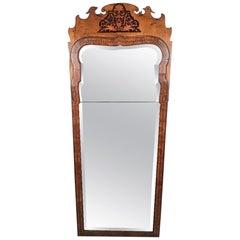 Queen Anne Period Walnut Pier Mirror