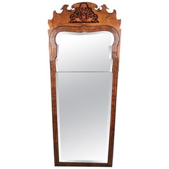Queen Anne Period Walnut Pier Mirror