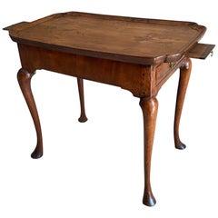 Queen Anne Period Walnut Silver Table