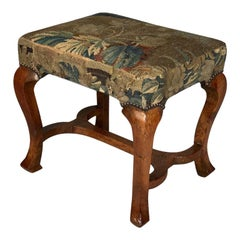 Queen Anne Period Walnut Stool
