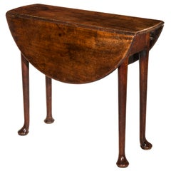 Queen Anne Small Red Walnut Table