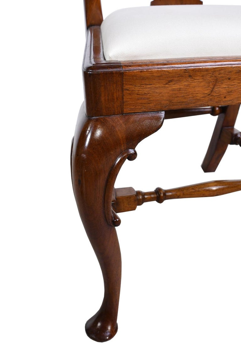 Queen Anne-Style Fiddle-Back Chair in Mahogany w/ Upholstered Slip Seat, c 1880 For Sale 3