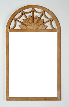 Queen Anne Style Frame Bleached Mahangony Field of Flower Crest