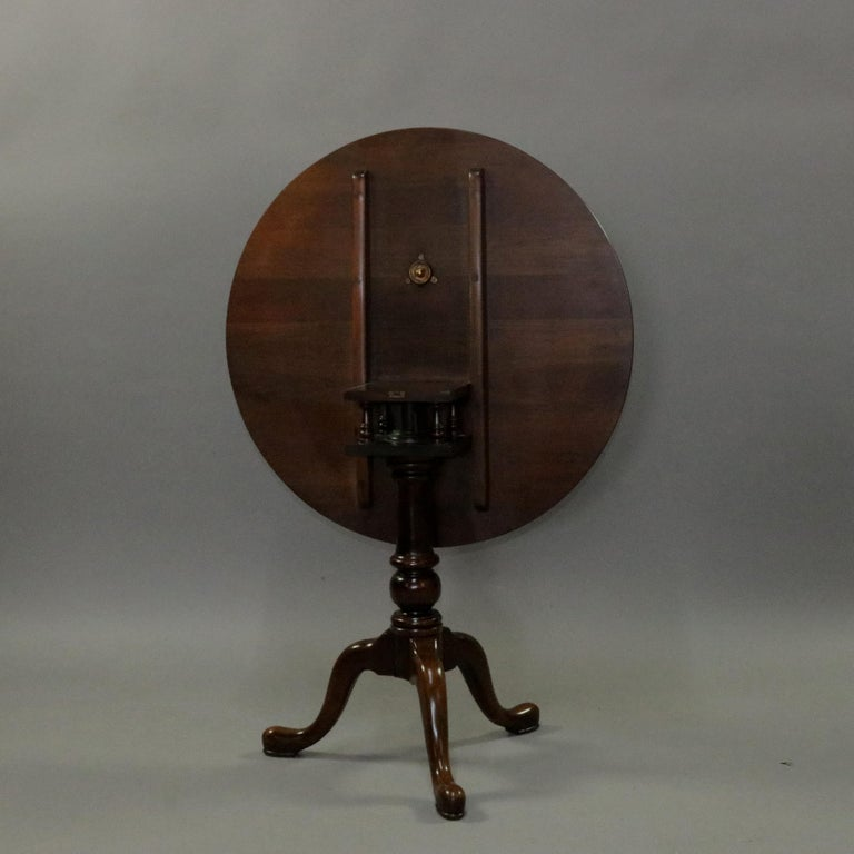 Queen Anne Style Mahogany Birdcage Tilt Top Table, 20th Century For Sale 6