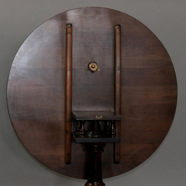 Queen Anne Style Mahogany Birdcage Tilt Top Table, 20th Century For Sale 7
