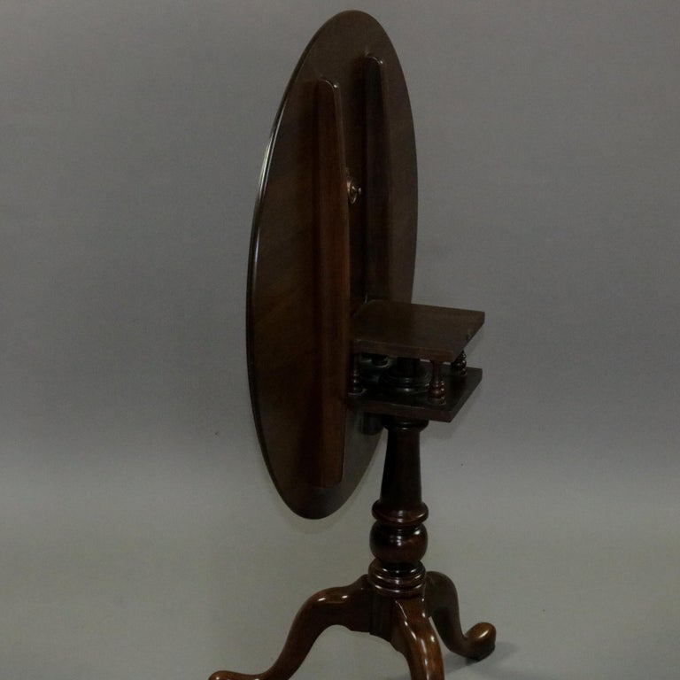 Queen Anne Style Mahogany Birdcage Tilt Top Table, 20th Century For Sale 9