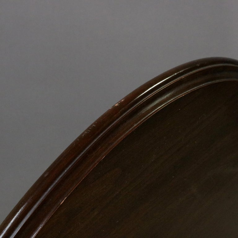 Queen Anne Style Mahogany Birdcage Tilt Top Table, 20th Century For Sale 12