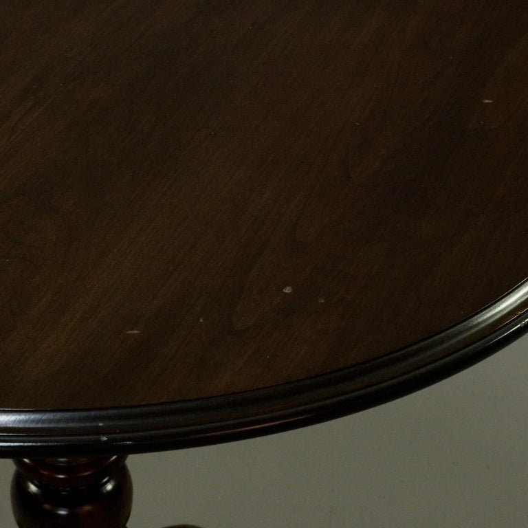 Queen Anne Style Mahogany Birdcage Tilt Top Table, 20th Century For Sale 13