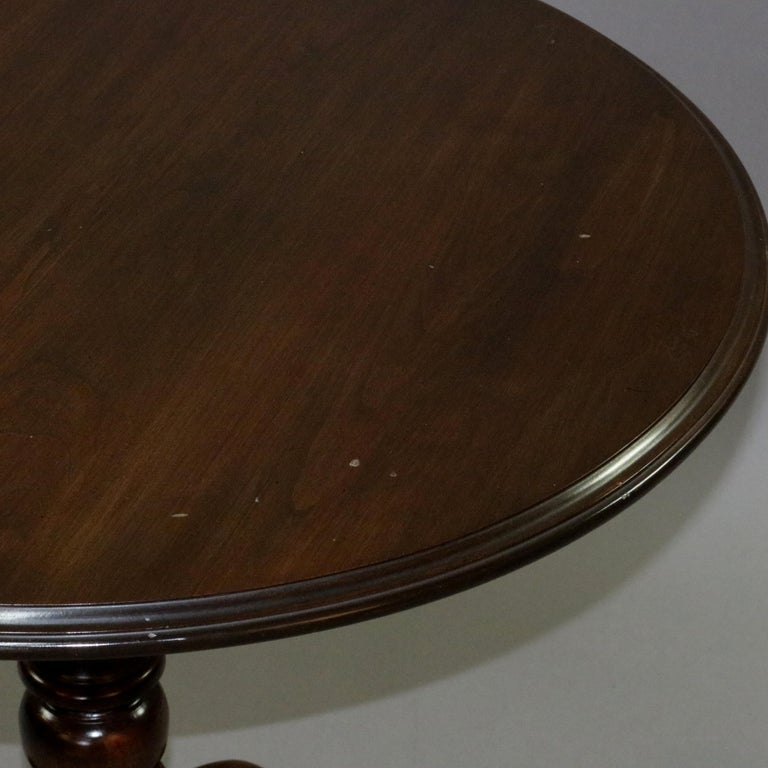 Queen Anne Style Mahogany Birdcage Tilt Top Table, 20th Century For Sale 14