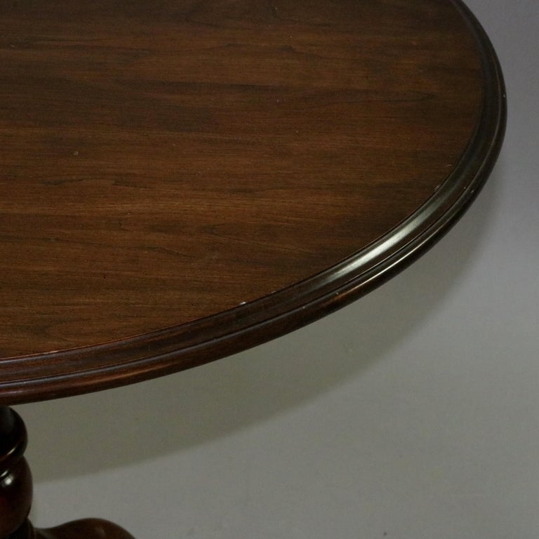 Queen Anne Style Mahogany Birdcage Tilt Top Table, 20th Century For Sale 15