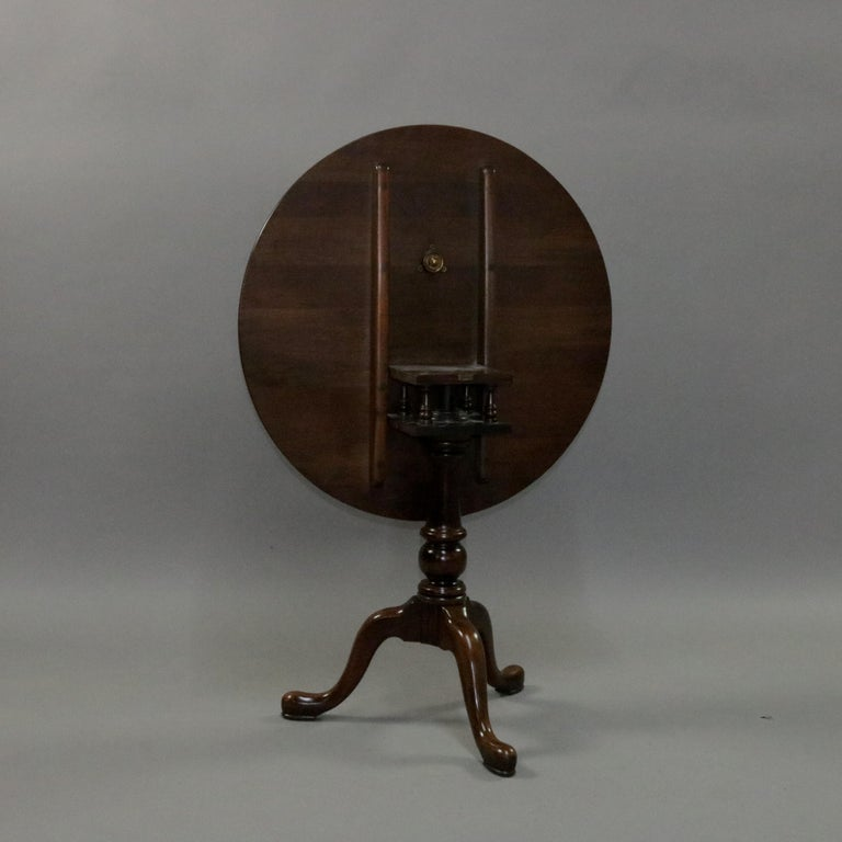 Queen Anne Style Mahogany Birdcage Tilt Top Table, 20th Century For Sale 2