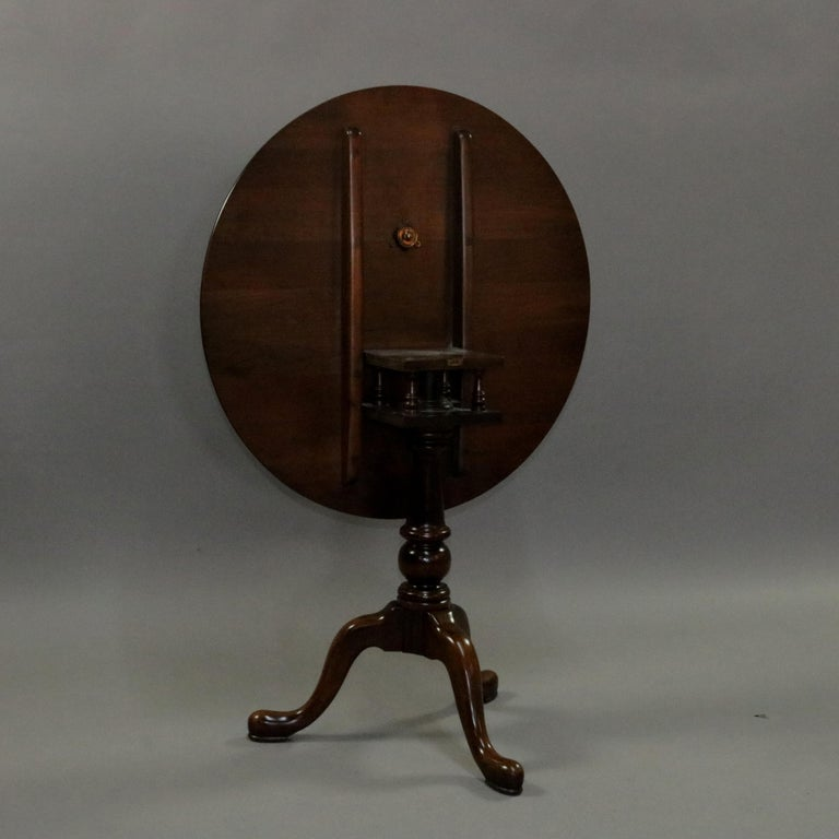 Queen Anne Style Mahogany Birdcage Tilt Top Table, 20th Century For Sale 5