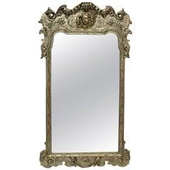 Queen Anne Style Silvered Mirror