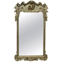 Queen Anne Style Silvered Mirror