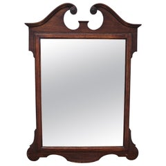 Queen Anne Style Wall Mirror with Broken Pediment