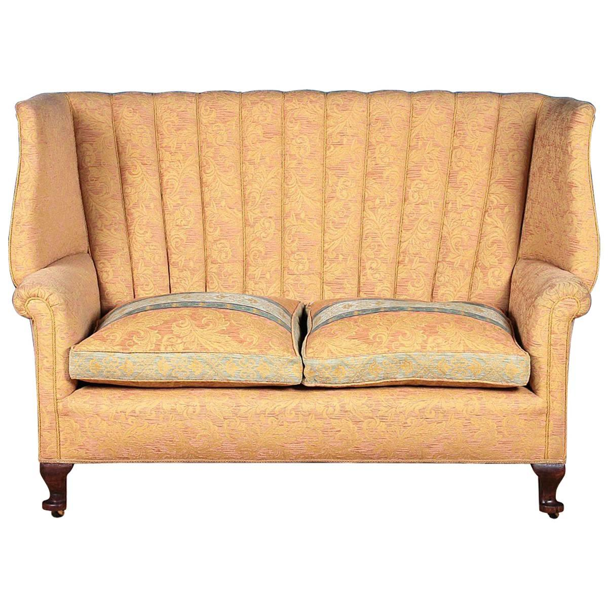 queen anne style wingback settee circa 1920 at 1stdibs rh 1stdibs com