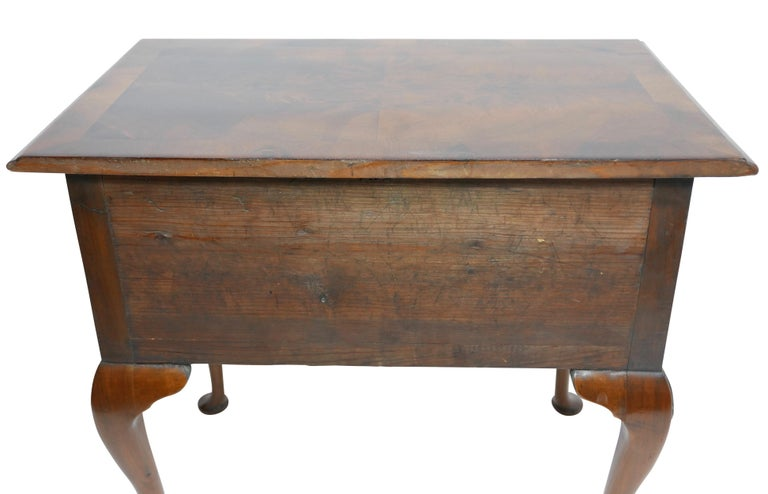 Queen Anne Walnut and Burl Walnut Lowboy, English Mid-18th Century For Sale 9