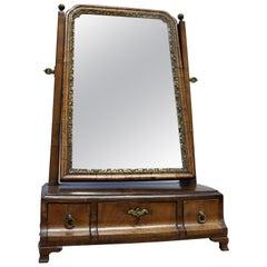 Queen Anne Walnut Boxsole Swing Mirror