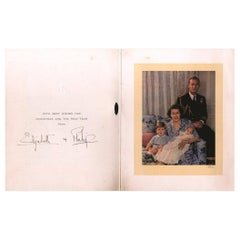 Queen Elizabeth II and Prince Philip 1950 Signed Royal Family Christmas Card