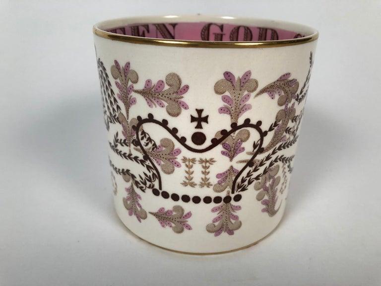 Mid-Century Modern Queen Elizabeth II Commemorative Coronation Mug by Richard Guyatt for Wedgwood For Sale