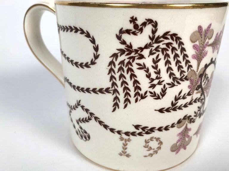 Mid-20th Century Queen Elizabeth II Commemorative Coronation Mug by Richard Guyatt for Wedgwood For Sale