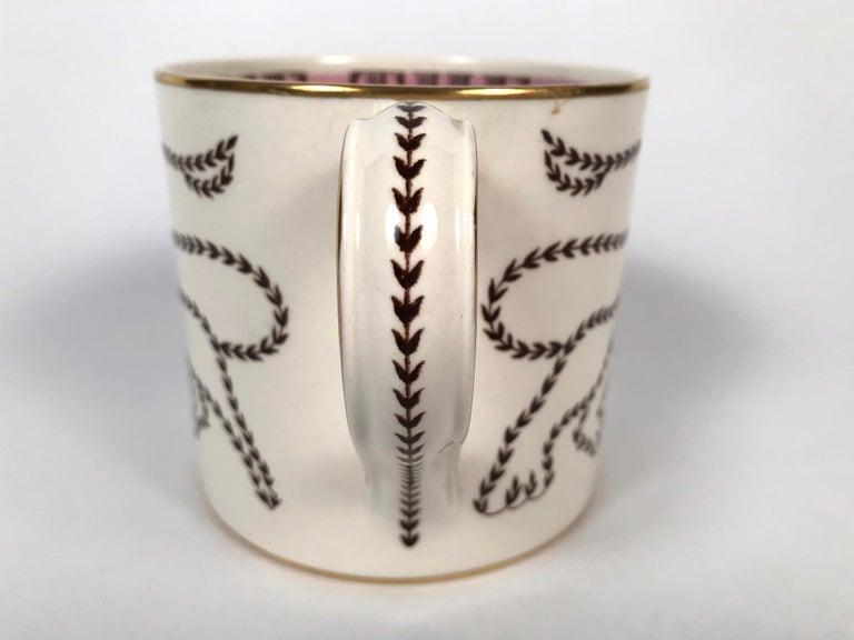 Earthenware Queen Elizabeth II Commemorative Coronation Mug by Richard Guyatt for Wedgwood For Sale