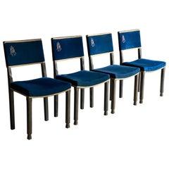 Queen Elizabeth II Silver Jubilee Coronation Peers Chairs Set of 4, 1952-1977