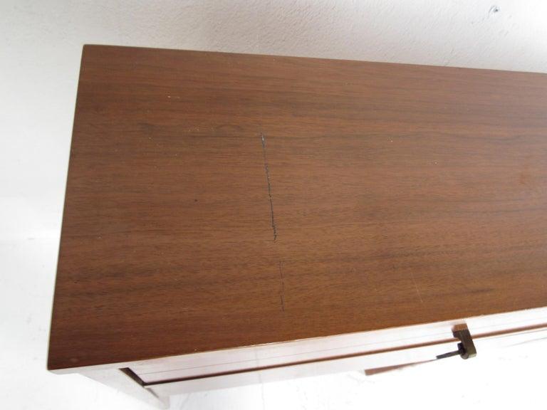 Queen Mid-Century Modern Walnut Headboard 4