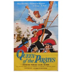 """Queen of the Pirates"" 1961 Original Movie Poster"