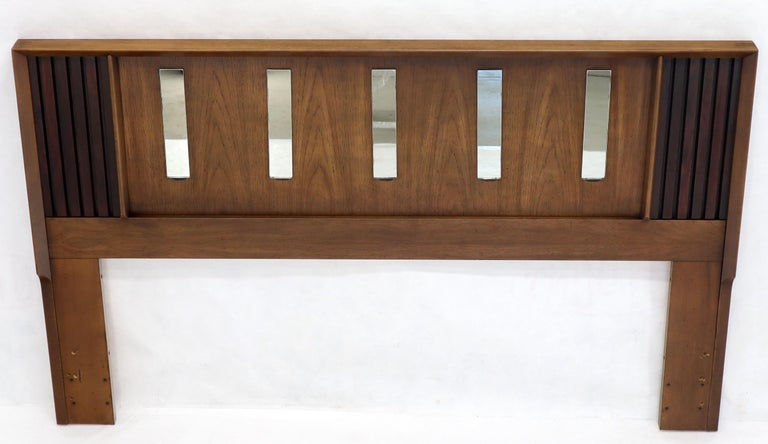 American Queen or Full Size Danish Mid-Century Modern Walnut Headboard