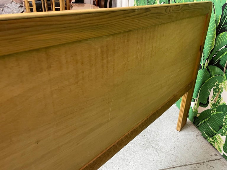 Late 20th Century Queen Size Rattan Split Reed Headboard  For Sale