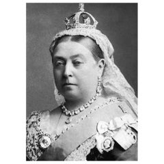 Queen Victoria Authentic Strand of Hair, 19th Century