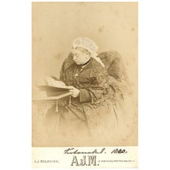Queen Victoria Original Signed Photographic Postcard Black and White