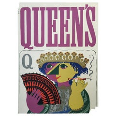 Queen's by Björn Wünblad Original Vintage Poster, 1954
