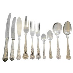 Queens by Sheffield English Silver Plated Flatware Set Service 125 Pieces Dinner