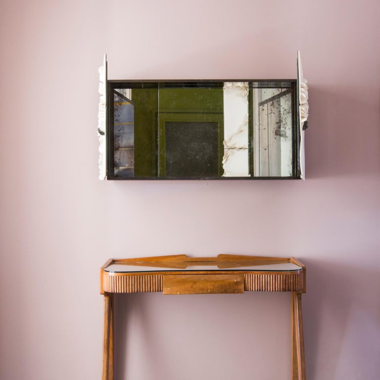 Italian Queer 1 Mirror in Porcelain by Unduo and Biancodichina For Sale