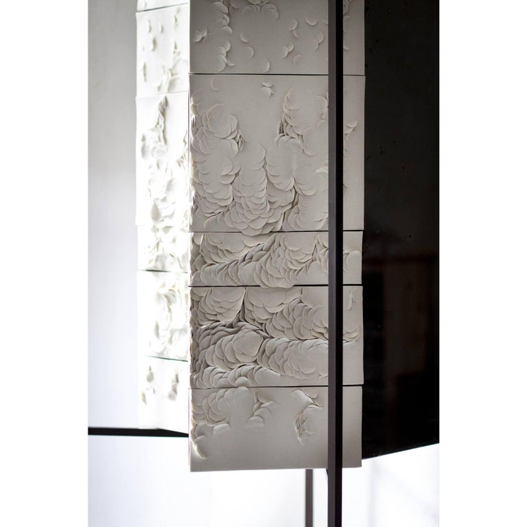Contemporary Queer 3 Cabinet in Procelain by Unduo and Biancodichina For Sale