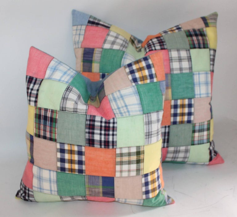 American Quilt Patch Pillows / Collection of Four For Sale